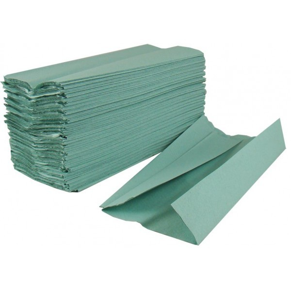 C Fold hand towels 1ply Green (2400)